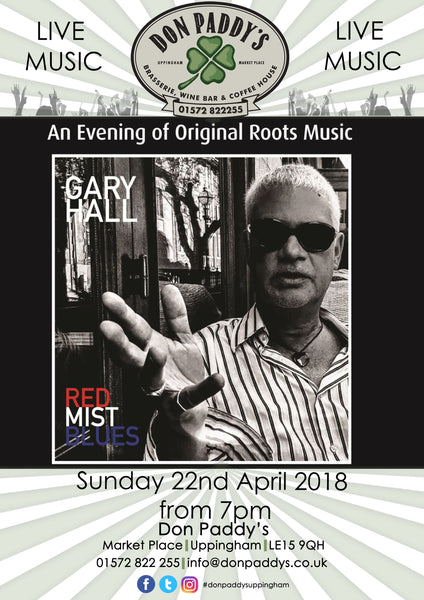 Live Music - Gary Hall, 22nd April 2018