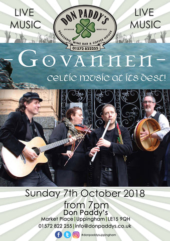 Live Music - Govannen, 7th October 2018