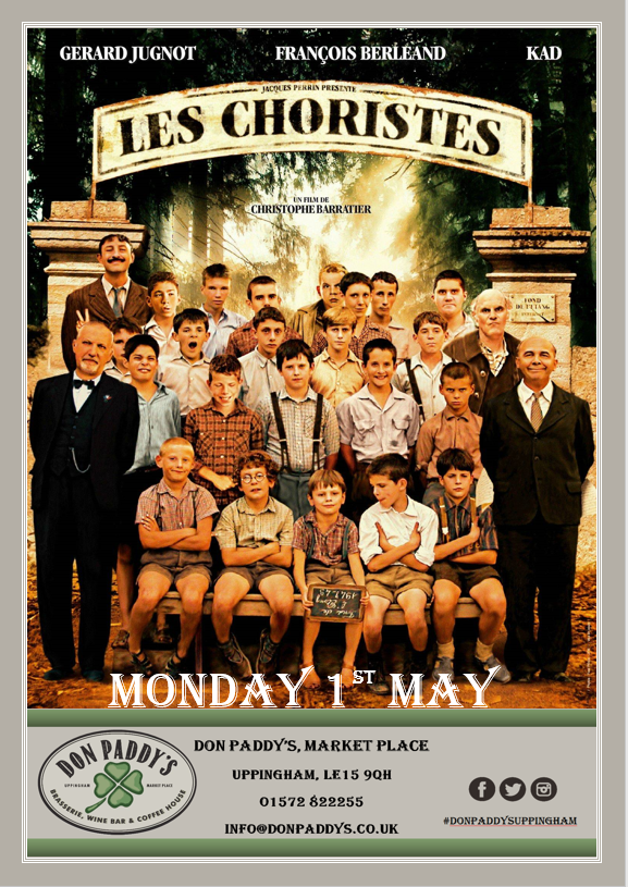 Don Paddy's Cinema Night, Monday 1st May