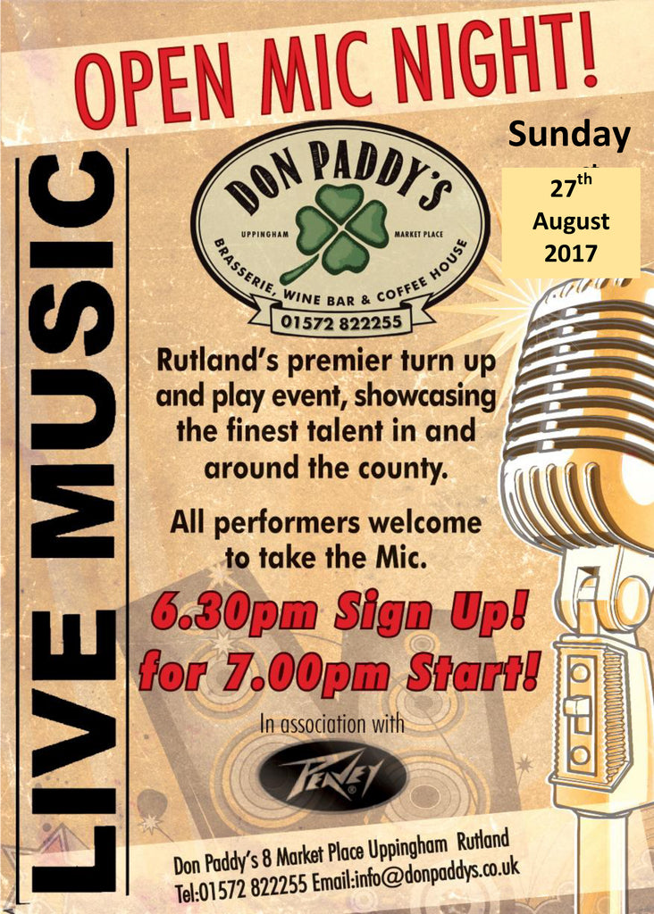 Open Mic Night - 27th August 2017