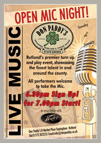 Open Mic Night, 28th January 2018