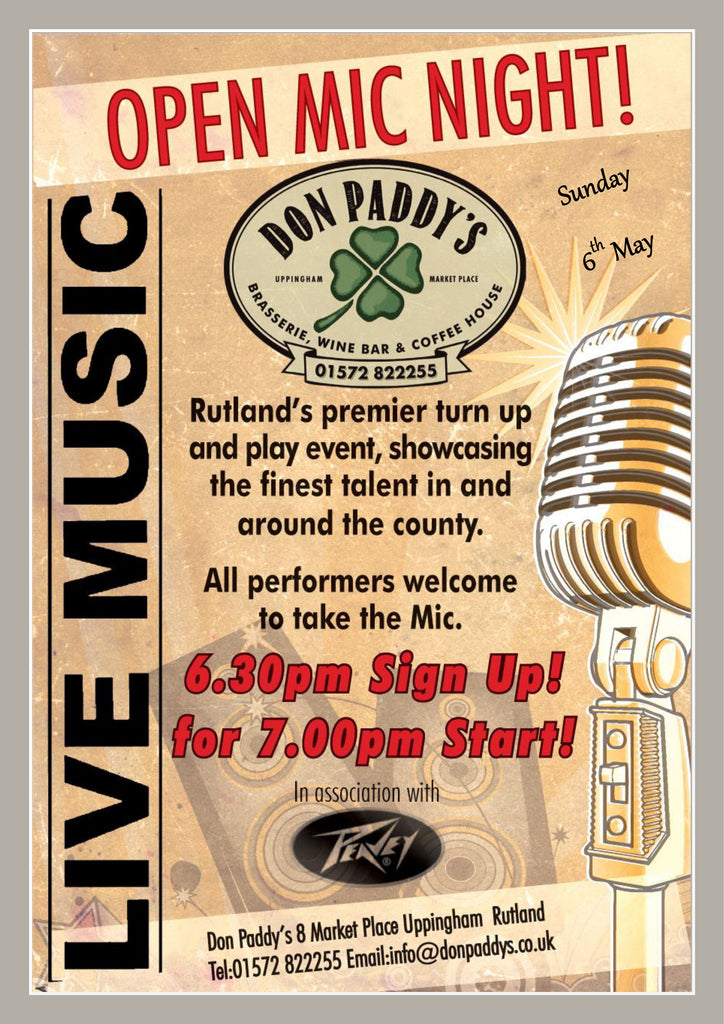 Open Mic Night, 6th May 2018
