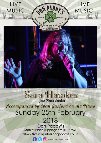 Live Music - Sarah Hawkes - Sunday 25th February 2018