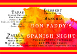 Spanish Night - Thursday 13th September