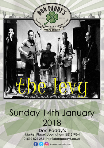 Live Music - The Levy, Sunday 14th January 2018