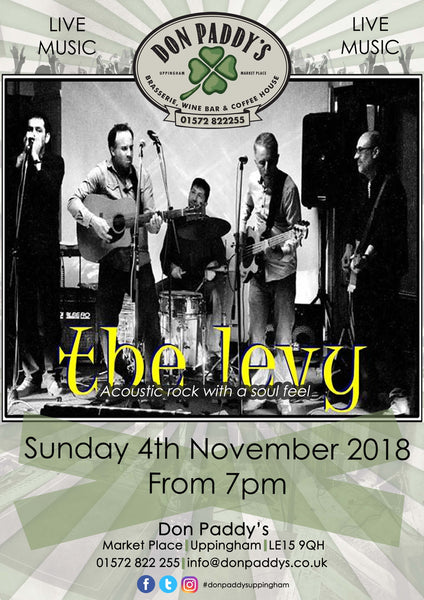 Live Music - The Levy, 4th November 2018