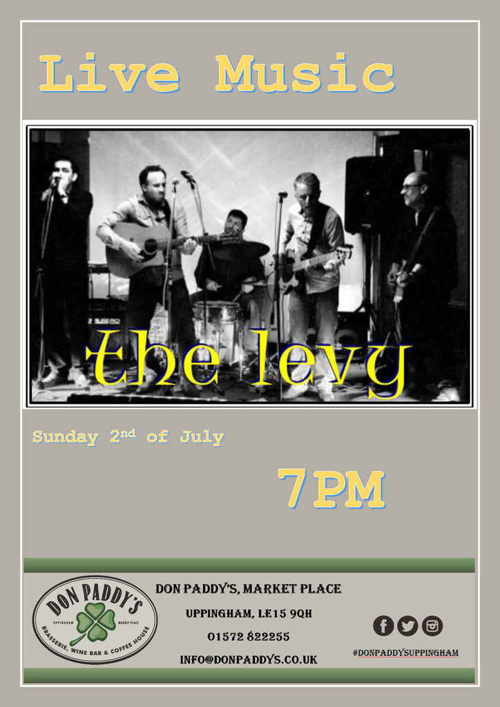 LIVE MUSIC - The Levy - Sunday 2nd July