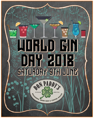 World Gin Day at Don Paddy's, 9th June 2018