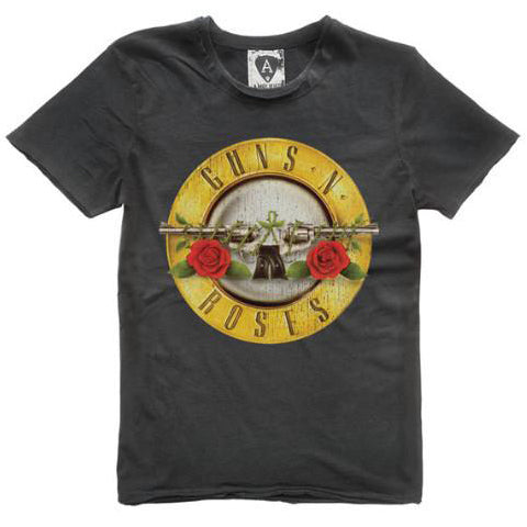 Guns 'n' Roses Drum Logo Amplified charcoal Men's T-shirt