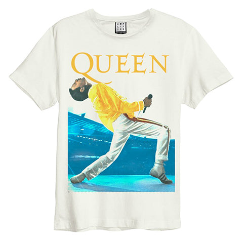 Queen Freddie Mercury Vintage White Amplified T-shirt