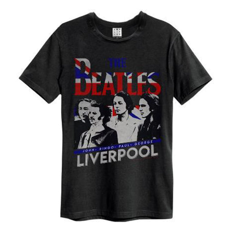Backstage Originals Iconic T-shirt store in Notting hill Gate where you meet with rock n roll legends! Shop this Beatles Liverpool Amplified Charcoal Men's T-shirt on Backstage Originals Visit store today or simply shop online at backstageoriginals.com