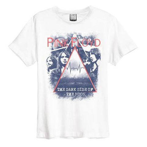 Pink Floyd Pyramid Faces Amplified White Men's T-shirt