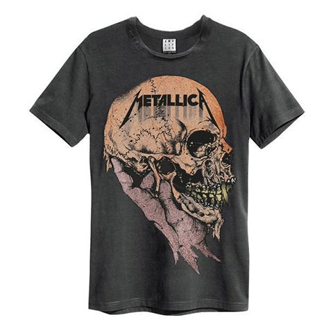 Metallica and Justice for All Amplified charcoal Men's T-shirt American heavy metal band Metallica formed in Los Angeles in 1981 when James Hetfield responded to an advert posted in a newspaper by Lars Ulrich. Their 3rd album, Master of Puppets, has been hailed as one of the most influential and heaviest thrash metal a…