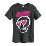 5 Seconds Of Summer Pink Heart Skull Men's T-shirt
