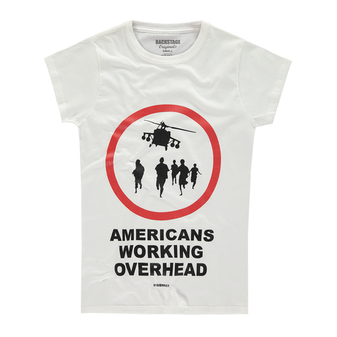 Banksy Americans Working Overhead Women's T-shirt