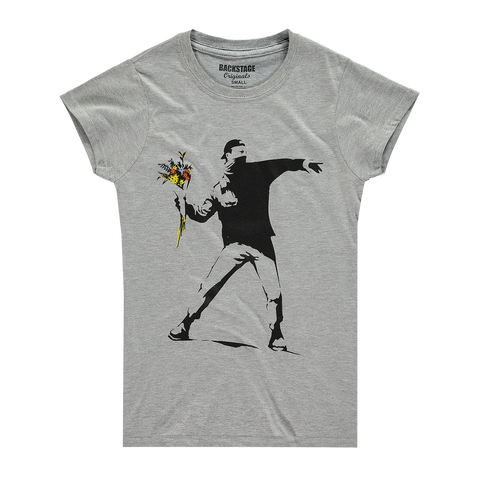 Banksy Rage Flower Thrower Women's T-shirt