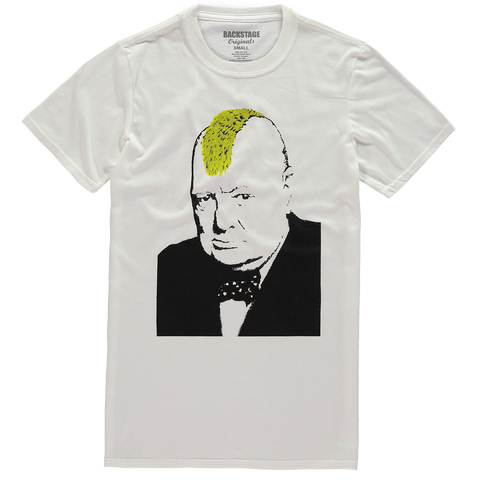 Banksy Churchill Mohawk Men's T-shirt