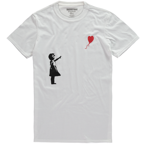 Banksy Girl Heart Balloon Men's T-shirt