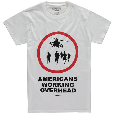 Banksy Americans Working Overhead Men's T-shirt