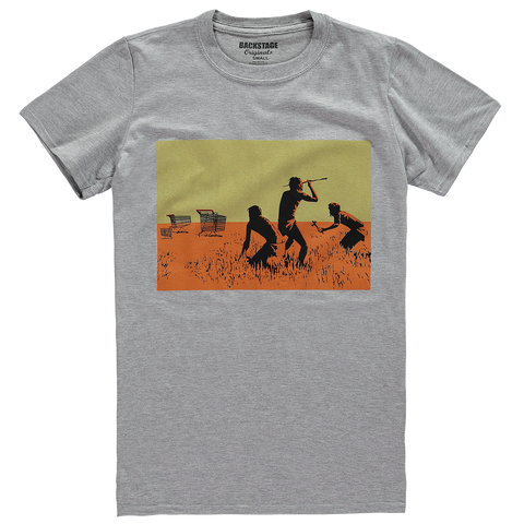 Banksy Trolley Hunters Grey Men's T-shirt