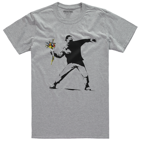 Banksy Rage Flower Thrower Men's T-shirt