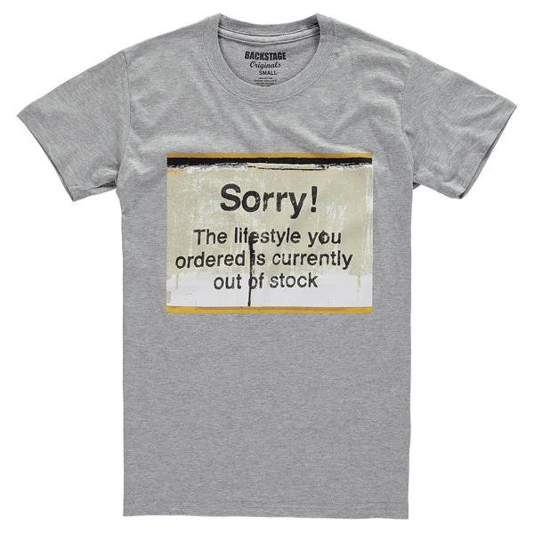 Banksy Sorry Out of Stock Men's T-shirt
