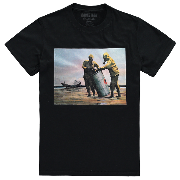 Banksy Beach Clean Black Men's T-shirt