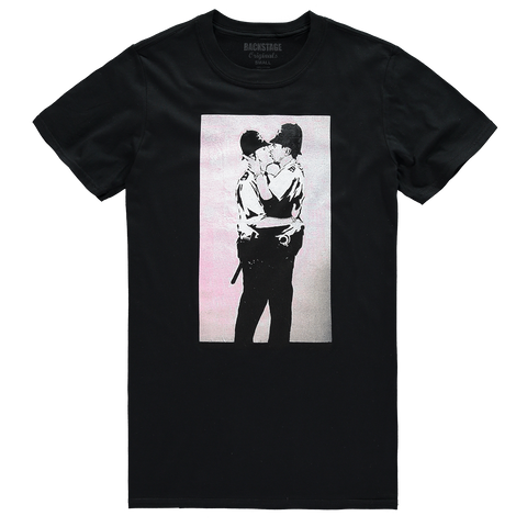 Banksy Kissing Coppers Men's T-shirt