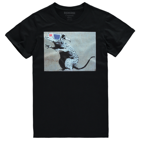 Banksy 3D Rat Blue Men's T-shirt
