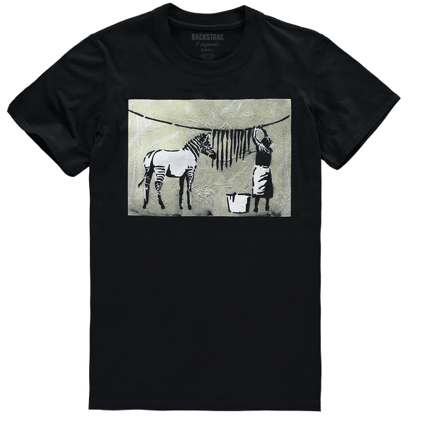 Banksy Zebra Men's T-shirt