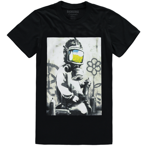 Banksy Gasmask Blue Men's T-shirt