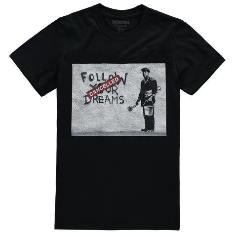 Banksy Dreams Cancelled Men's T-shirt