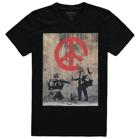 Soldiers Peace Banksy Soldiers Peace Men's T-shirt