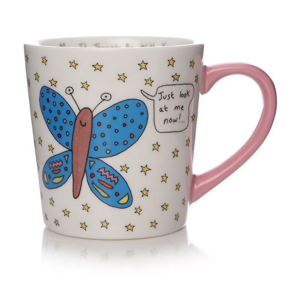 May The Thoughts Butterfly Mug By Charlotte Reed