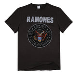 Ramones 40th Anniversary Seal Men's Charcoal T-shirt