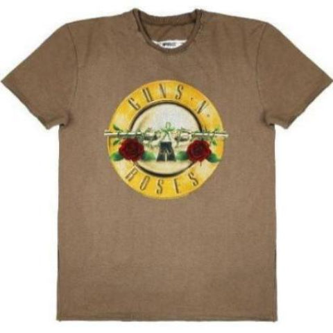 Guns 'n' Roses Drum Logo Amplified Khaki Men's T-shirt