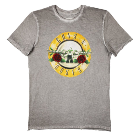 Guns 'n' Roses Drum Logo Amplified Oil Wash Men's T-shirt