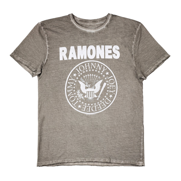 Ramones Logo Amplified Men's Oil Wash T-shirt