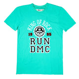 RUN DMC KING OF ROCK Cyan Men's T-shirt