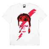 Bowie Aladdin Sane Print Amplified Men's T-shirt White