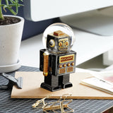 Robot Snow Globe By Donkey Products Black Colour