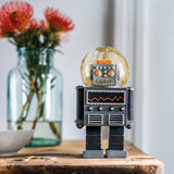 Giant Robot Snow Globe By Donkey Products Black Colour
