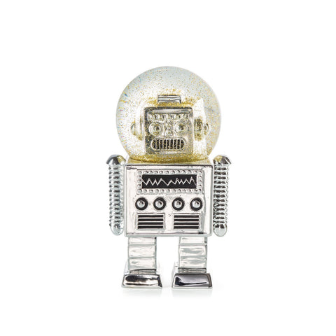 Robot Snow Globe By Donkey Products Silver Colour
