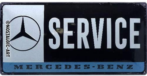 Mercedes-Benz Service Metal Sign By Nostalgic Art