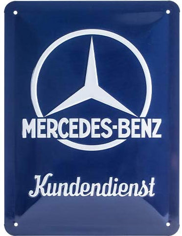 Mercedes-Benz Customer Service Metal Sign By Nostalgic Art