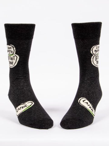 I am Going To Get Shit Done.. Later Men's-Crew Socks