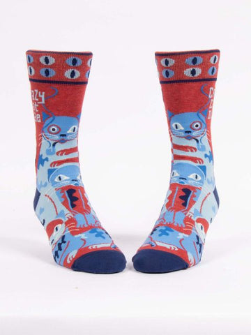 Crazy Cat Dude Men's-Crew Socks