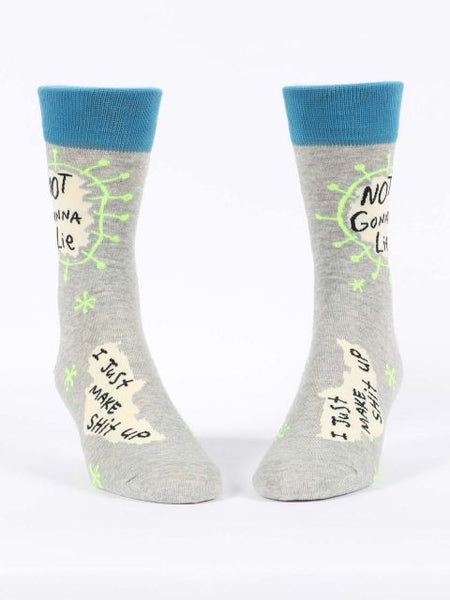 Not Gonna Lie, I Just Make Shit Up Men's-Crew Socks