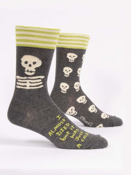 I Almost Died But It Was Just A Cold Men's-Crew Socks