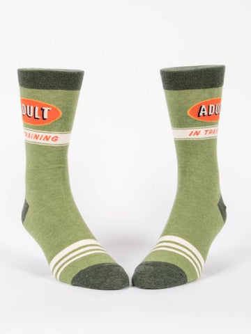 Adult In Training  Men's-Crew Socks